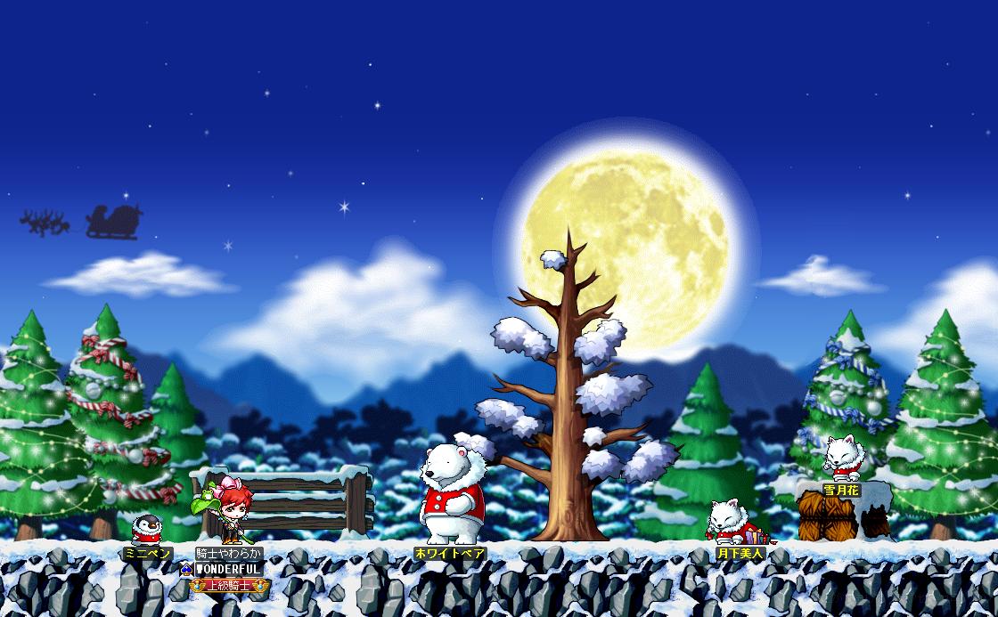 maplestory MAP ホワイトクリスマスの丘 完成 無透過